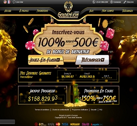 golden lion casino avis