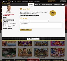 unique-casino-support